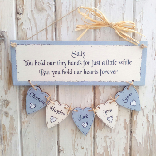 "Personalised Plaque - ""You Hold Our Tiny Hands"""